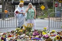 Charlottesville, místo, kde útočník s autem zabil ženu.