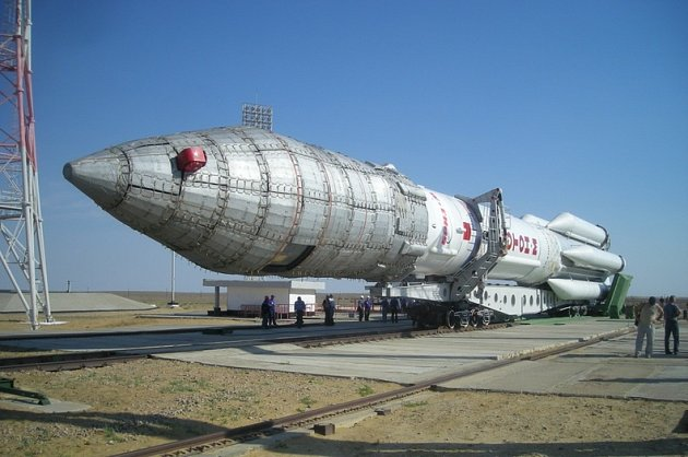 Nosná raketa Proton. Ilustrační snímek
