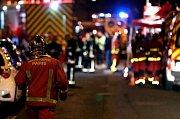 Požár budovy v Paříži