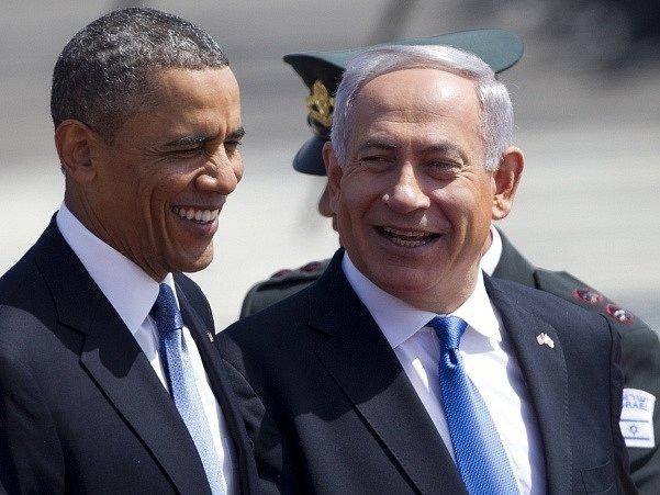 Barack Obama a Benjamin Netanjahu