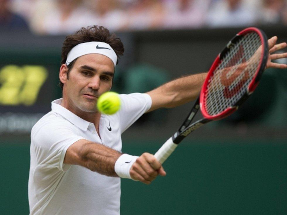 Roger Federer na Wimbledonu.