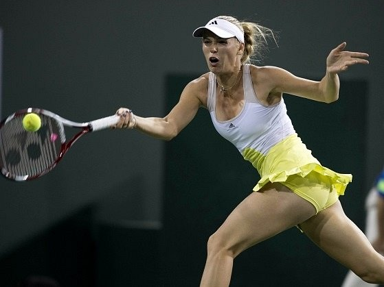Caroline Wozniacká na turnaji v Indian Wells.