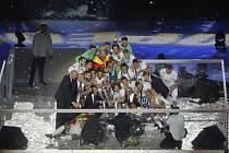 Fotbalisté Realu Madrid slaví triumf v Lize mistrů.