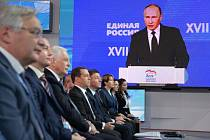 Sjezd strany Jednotné Rusko. Vladimir Putin