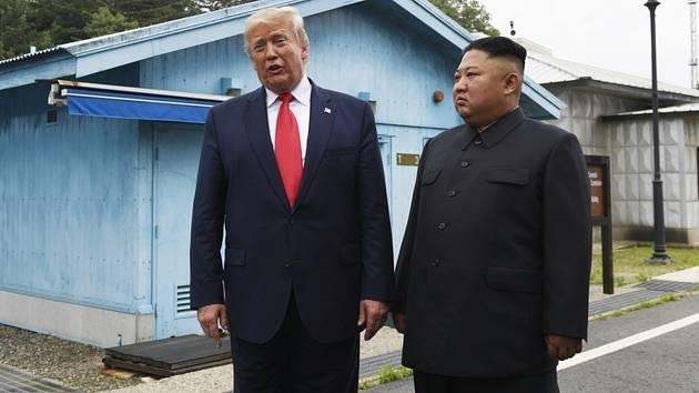 Donald Trump a Kim Čong-un