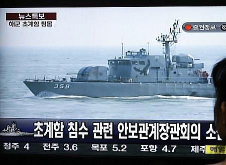 U KLDR se potápí jihokorejská válečná loď