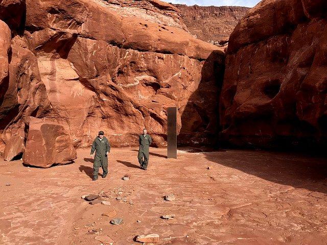 Záhadný monolit v horách v Utahu.