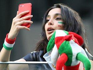 Íránská fanynka. Fotbalové MS Rusko 2018
