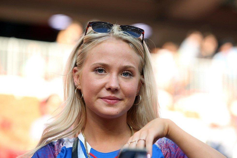 Islandská fanynka. Fotbalové MS Rusko 2018