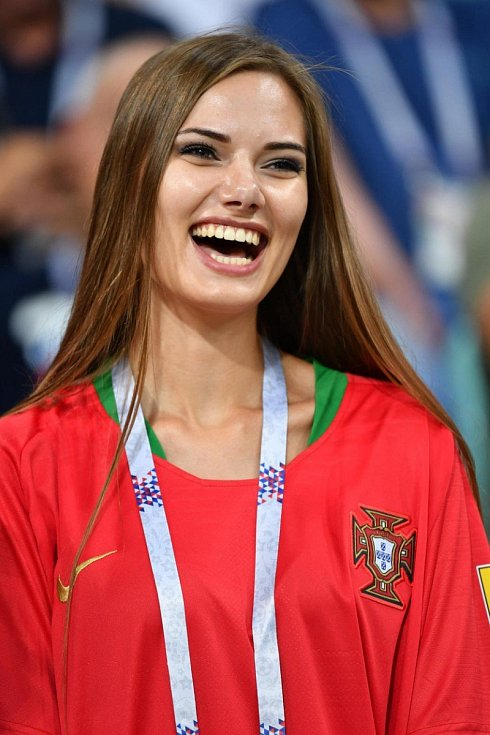 Portugalská fanynka. Fotbalové MS Rusko 2018