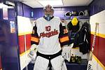 Petr Čech ve výstroji hokejového klubu Guildford Phoenix.