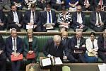 Britský premiér Boris Johnson hovoří v Dolní sněmovně na snímku z 3. září 2019