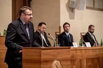 """Seminář """"První zkušenosti s fungováním Úřadu pro dohled nad hospodařením politických stran"""" proběhl 30. sprna v Senátu v Praze. Vojtěch Weis."""