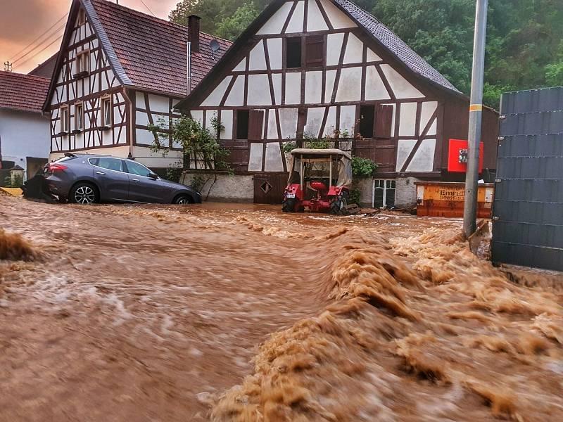 Německo zasáhly silné bouřky