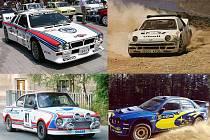 Vyberte nejkrásnější rallyové auto.