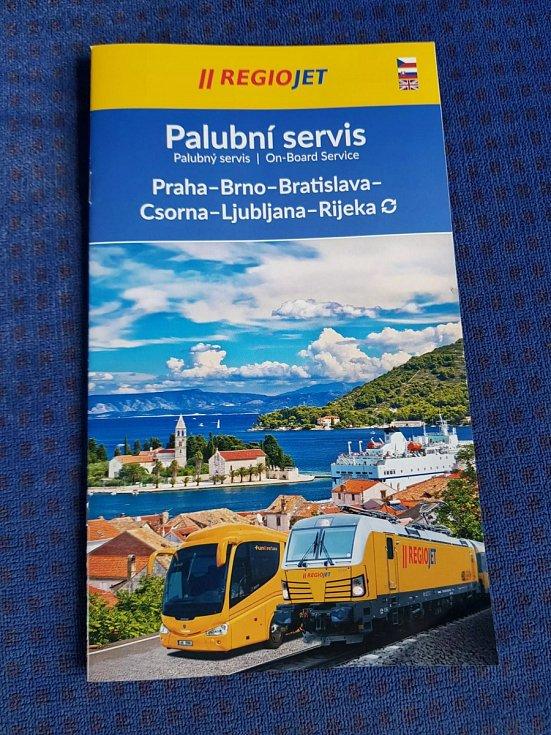 Průvodce palubním servisem pro linku do Chorvatska.