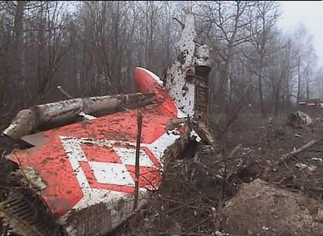 Tragédie u Smolensku, trosky letadla