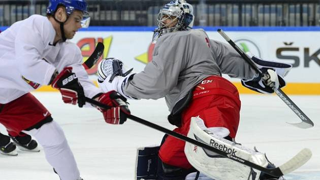 Hokejisté už se připravují na páteční zápas proti Švédsku