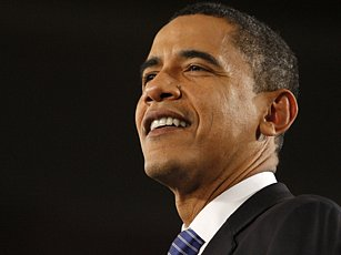 Demokrat Barack Obama  je sympatický i mnoha republikánským voličům.