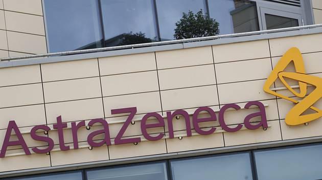 Logo britské farmaceutické firmy AstraZeneca