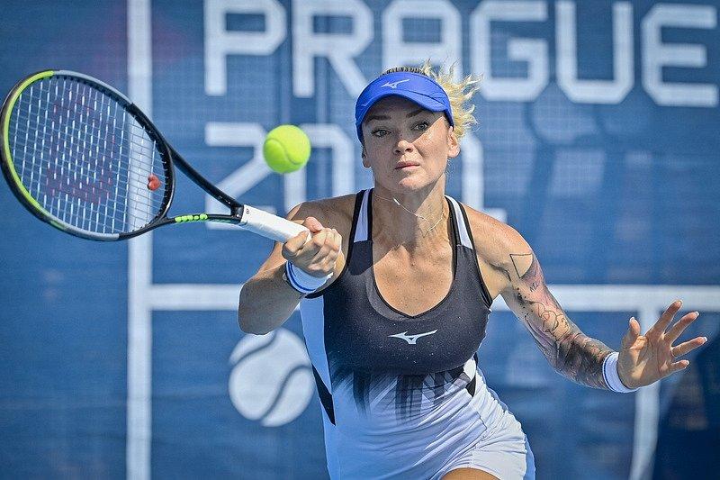 Tereza Martincová na Prague Open 2021.