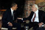 Billy Graham s bývalým americkým prezidentem Barackem Obamou