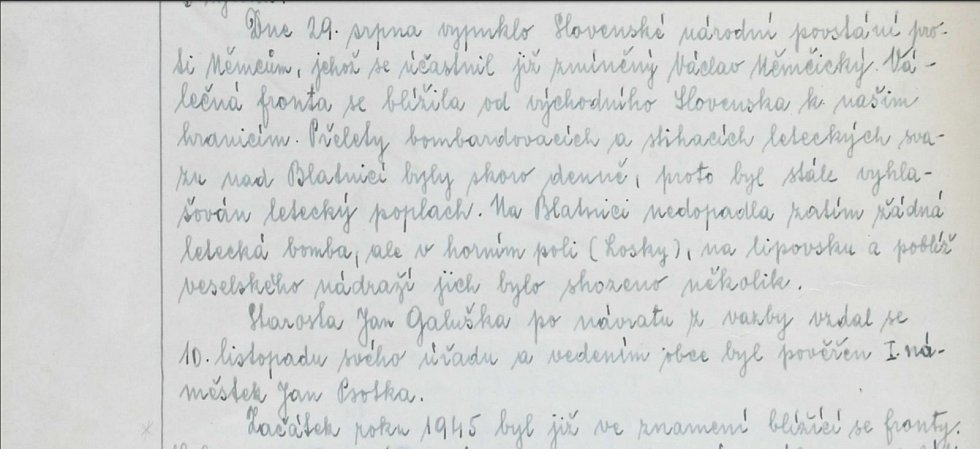Slovenské národní povstání se Blatnici připomnělo častými přelety bombardérů