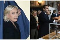 Marine Le Penová a Emanuel Macron