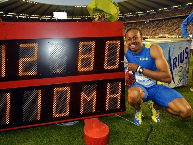 Aries Merritt zaběhl na Diamantové lize v Bruselu světový rekord na 110 m překážek.