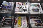 Britský tisk píše na prvních stránkách o vystoupení Británie z EU, snímek byl pořízen 1. února 2020 v centru Londýna