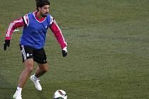 Sami Khedira na tréninku Realu Madrid.