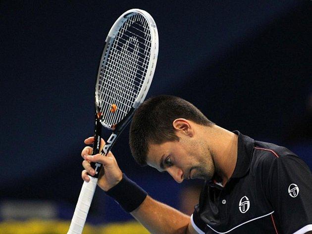 Novak Djokovič na turnaji v Basileji.