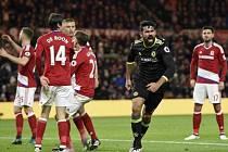 O výhře Chelsea nad Middlesbrough rozhodl jediným gólem kanonýr Diego Costa.
