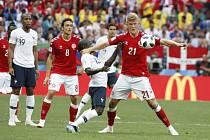 První bezbrankový zápas na mistrovství světa v Rusku obstaraly týmy Francie a Dánska.
