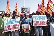 Italští migranti stávkují za lepší pracovní podmínky