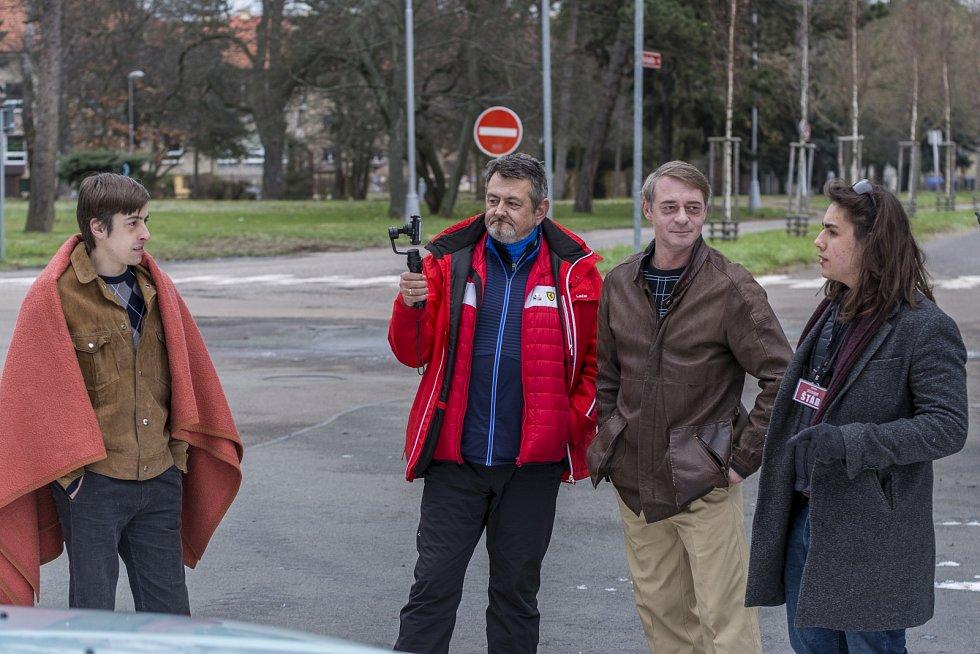 Jiří Dvořák při natáčení filmu Narušitel