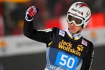 Švýcarský skokan na lyžích Simon Ammann po závodu na Turné čtyř můstků.