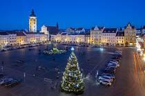 Vánoční strom v Českých Budějovicích