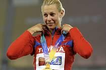Ruská sedmibojařka Taťjana Černovová.