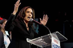 Demokratická kandidátka na prezidentku USA Kamala Harrisová