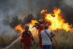 Řecko sužují požáry.