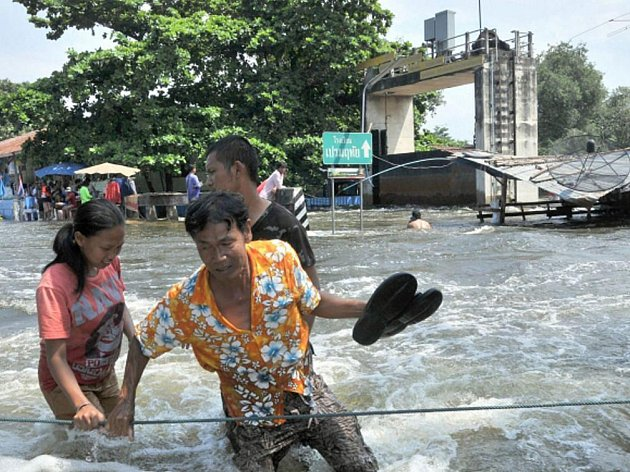 Záplavy v Thajsku.