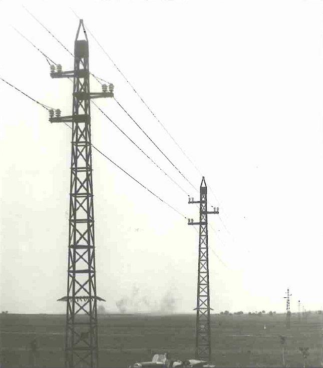 Vedení 44 kV Oslavany - Brno