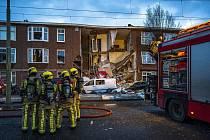 Výbuch plynu zavinil pád třípatrového domu v nizozemském Haagu