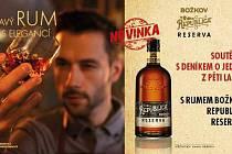 Zapojte se sDeníkem do soutěže o jednu zpěti lahví s rumem Božkov Republica