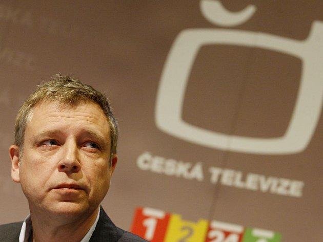 Česká televize představila 21. března nové Události. Na snímku ředitel zpravodajství ČT Zdeněk Šámal.