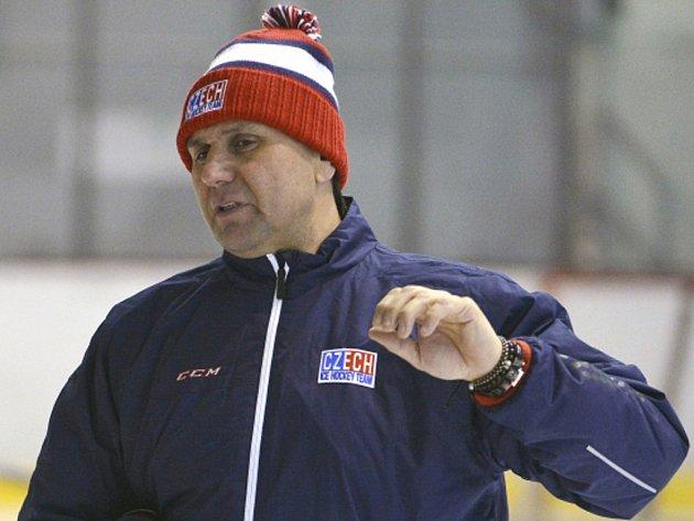 Trenér hokejové reprezentace Vladimír Růžička.
