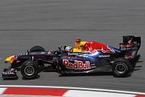 Sebastian Vettel v kvalifikaci na Velkou cenu Malajsie.