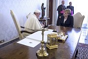Setkání Angely Merkelové s papežem Františkem