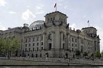Sídlo německého parlamentu v Berlíně.